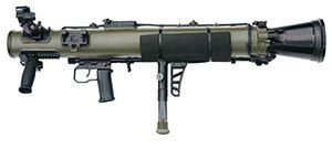 The new Carl Gustav M4. Weight reduced from 11 kilograms/22 pounds to less than 7 kilograms/15 pounds. jdm