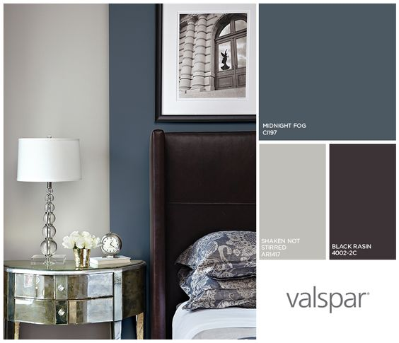 Gray Hues And Browns Make This A Bedroom Worth Living In