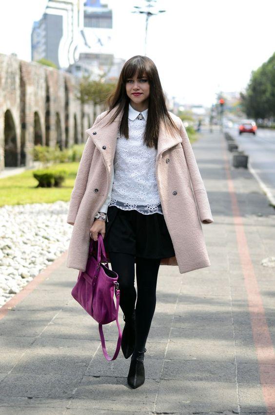 Pastel Pink coat. | MODA CAPITAL