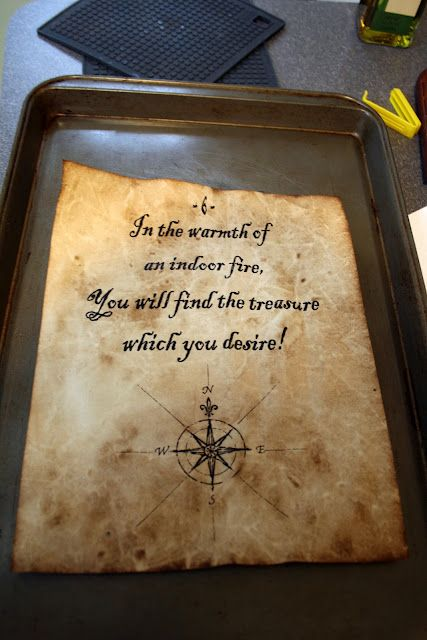 """one clever mom: How to Antique Paper - cool for making """"clues"""" for a treasure hunt  (and easy)"""