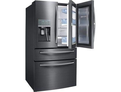 Samsung Showcase 27 8 Cu Ft 4 Door French Door Refrigerator Black Stainles Black Appliances Kitchen French Door Refrigerator Samsung Appliances