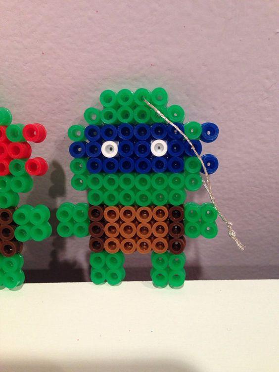 Ninja Turtles perler Christmas ornament set van katie822 op Etsy