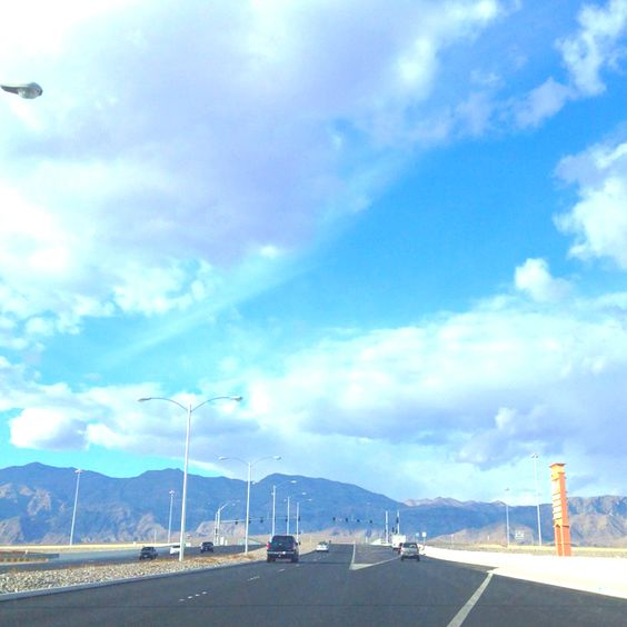 "Leftover pic from Vegas, the clouds over the mountains made for a ""great view"". Interstate 15 ,North Las Vegas Nevada"