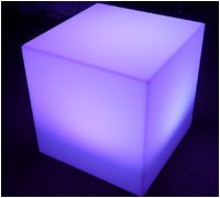 purple glowing cube | Glow Table (Available in red, green, blue, purple)