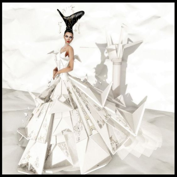 Couture Gowns | Fellini Couture - Origami Gown