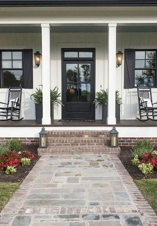 Pin On Farmhouse Front Porches Ideas