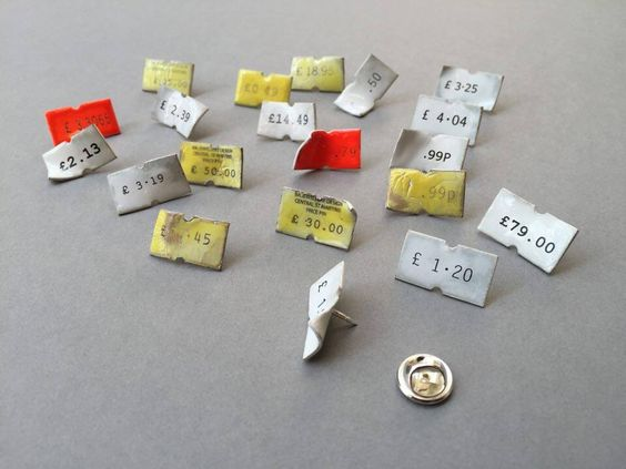 9 - Off the shelf - Central St Martins -  Lucie Davis, Enamelled Price Pins: