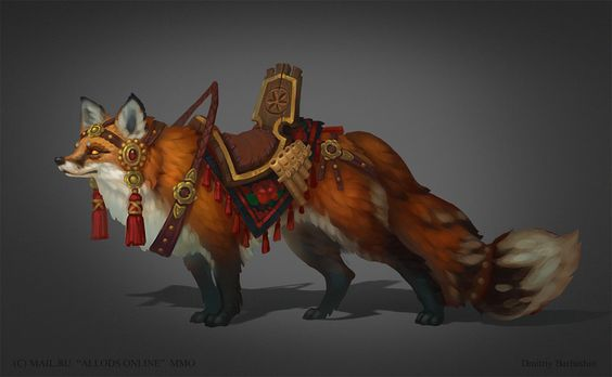 Cool concept art of dmitriy barbashin pets my life and for Cool fox drawings