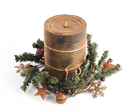 Candle Rings, Rustic And Country Decor On Pinterest