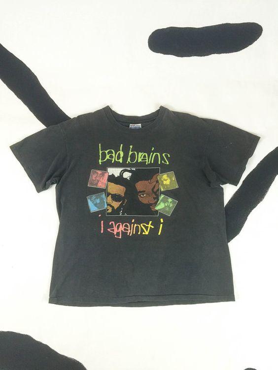 1986 Bad Brains I Against I Vintage T Shirt / by badatpettingcats