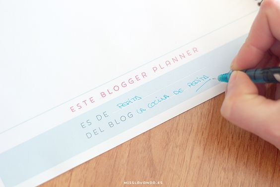Freebies: blogger planner bien completo para descargar | Miss Lavanda