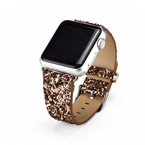 Apple Watch Strap,Mydeal Extreme Deluxe 3D Bling Leather