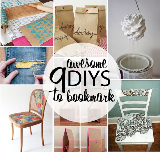 9 Awesome DIY's to Bookmark