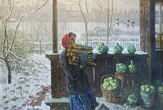 Сергей Ткачев. «Первый снег». 1976