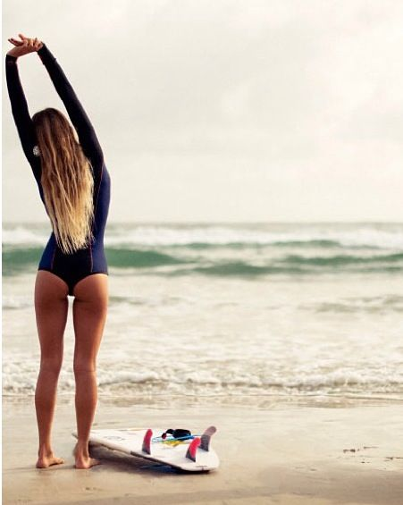 Importante el calentamiento antes de una sesión de surf