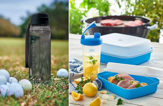"""Our top picks for dad! Hydrate on the course with the new, ultra-durable Eco Plus Water Bottle featuring easy-carry strap. Or if dad """"claims"""" to be a grill master, the Shake & Marinate Set is a must-have. http://www.kimtw.ca/"""