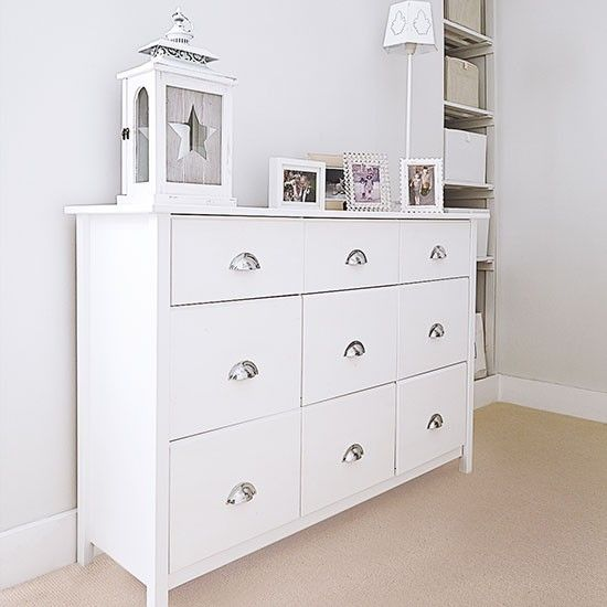 Dining Room Chest Of Drawers: White Hallway With Painted Console Table