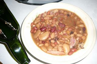 Slow Cooked Crock Pot Bean  with  Smoked Ham Shank