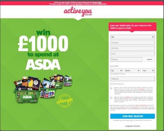Email Zip Submit Get 1000 To Spend At Asda In United Kingdom Asda Xbox Gift Card Disney Movie Rewards