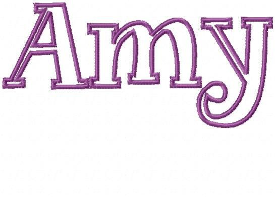 Fancy Block Letter Applique Embroidery Font Amy  Me