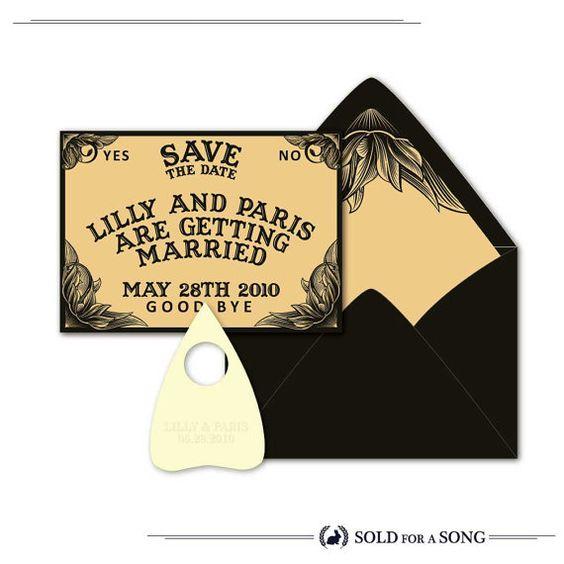 AADIN 10 Ouija Board Save The Date Wedding By SoldforaSong