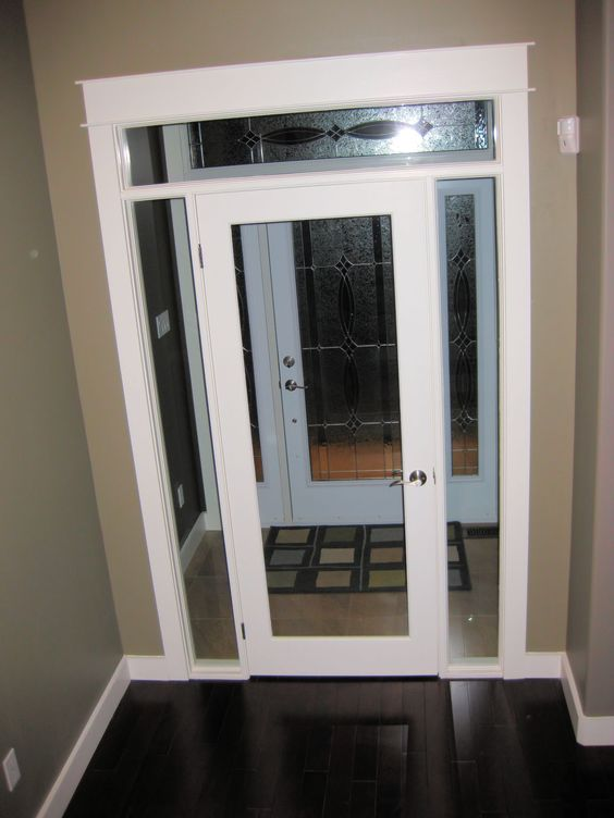 Glass french doors french doors and clear glass on pinterest for Sliding glass door with sidelights