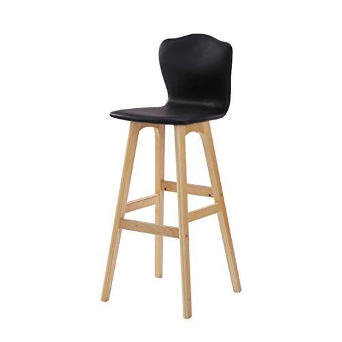 Laxf High Stools For Kitchen Counter European Solid Wood Bar Stool Bar Chair High Chair Bar Bench Chair Cre Wooden Bar Stools High Bar Stools Solid Wood Chairs