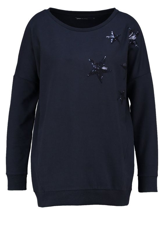 ONLY ONLSTELLA AMOUR Sweatshirt night sky Bekleidung bei Zalando.de | Material Oberstoff: 63% Polyester, 32% Baumwolle, 5% Elasthan | Bekleidung jetzt versandkostenfrei bei Zalando.de bestellen!
