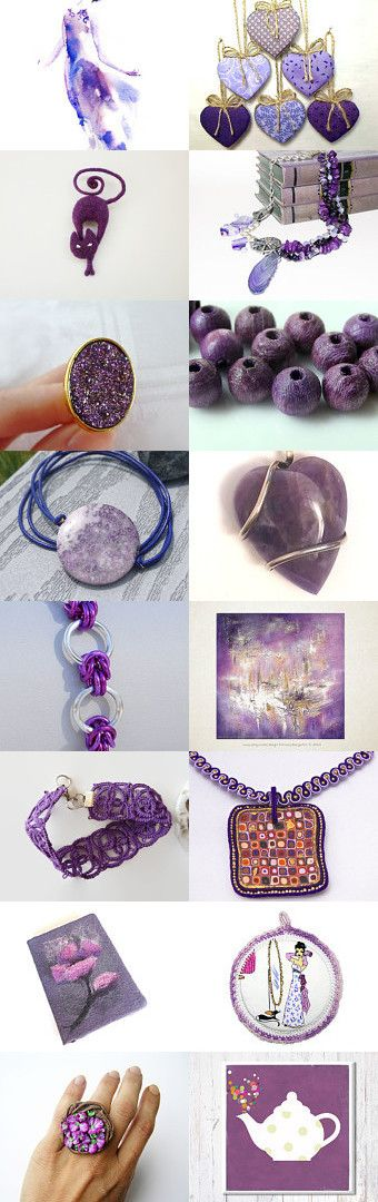 November gifts -  Shades of purple by Inese on Etsy--Pinned with TreasuryPin.com