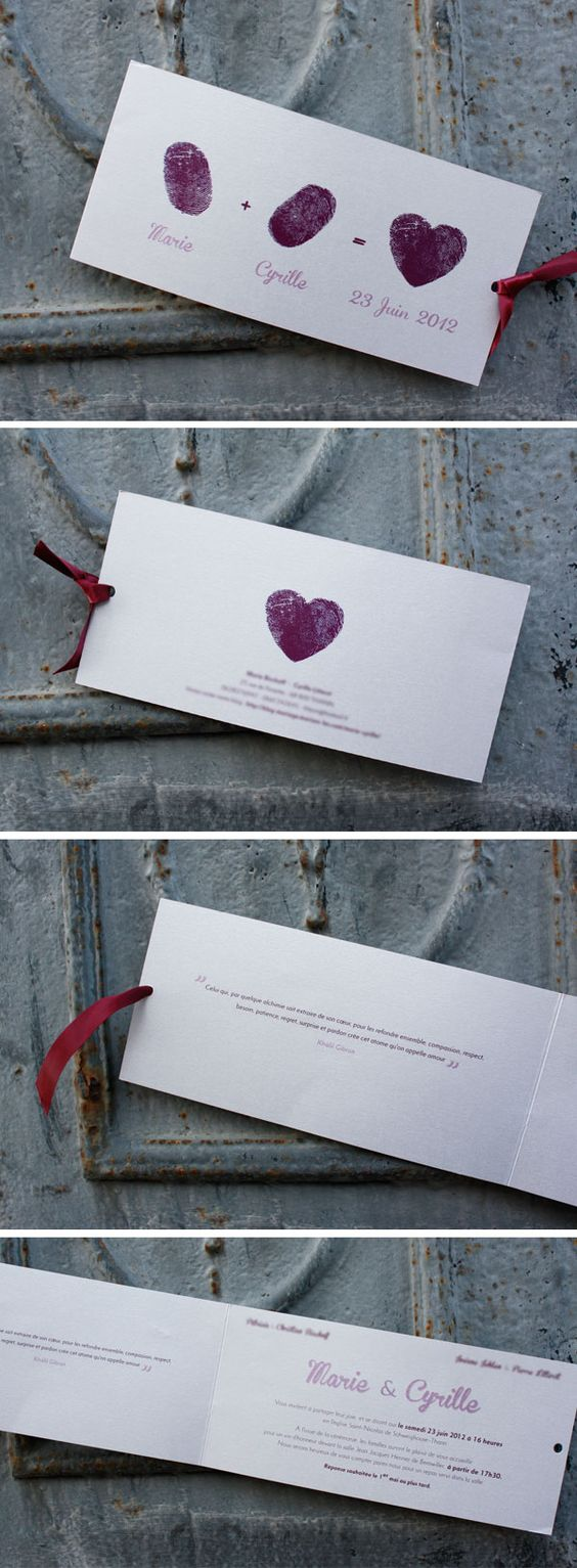 Empreinte d'amour #fairepart #mariage