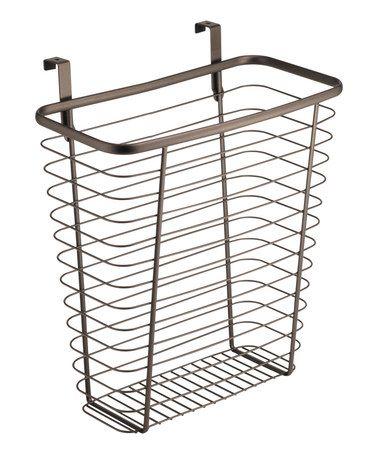 Another great find on #zulily! Bronze Over-Cabinet Storage/Waste Basket #zulilyfinds
