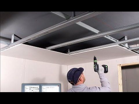 Installation Du Plafond Casoline Mf French Translation British Gypsum Youtube Gypsum Installation False Ceiling