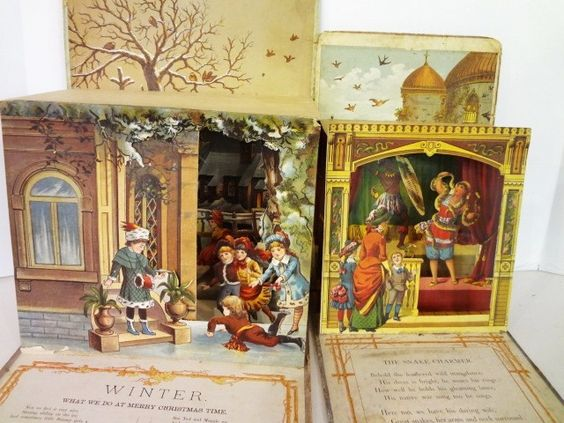 Дети всплывают книги |  394: Детская Викторианский Pop-Up Книги: Лот 394: