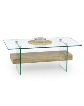 Table Basse Ronde Bois Et Métal Noir 60 X 60 Cm à Découvrir