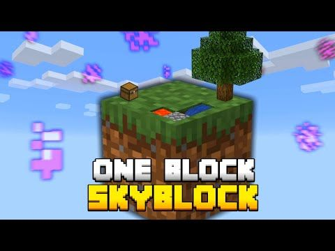 Minecraft Skyblock But You Only Get ONE BLOCK YouTube in 2021