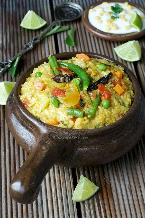 Vegetable Masala Khichdi Spicy Moong Dal Khichdi Recipe