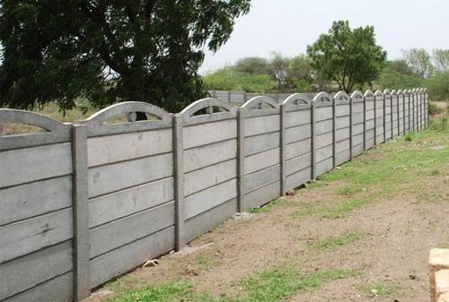 Modern Boundary Wall Concrete Fence Fence Design Backyard Fences
