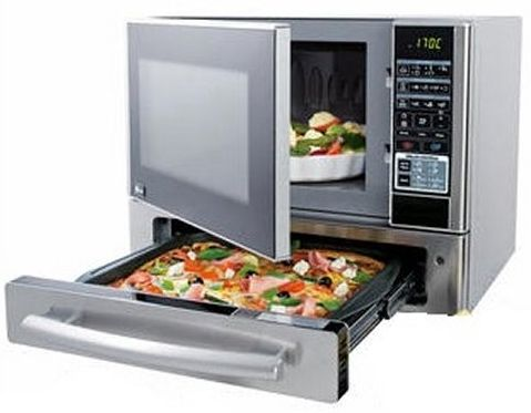 Stainless Steel Kenmore 1 1 Cu Ft Countertop Microwave Pizza