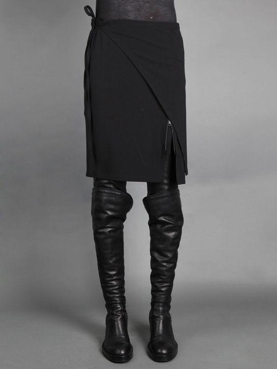 The cross over straight skirt by Ann Demeulemeester