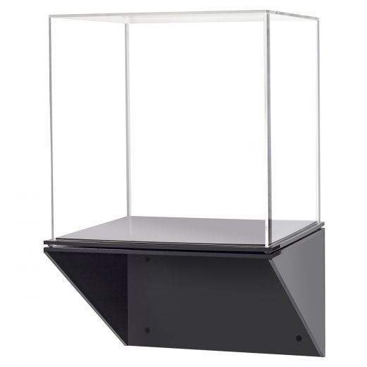 Acrylic Display Case With Black Wall Mount Shelf Acrylic Display Case Wall Display Case Display Shelves