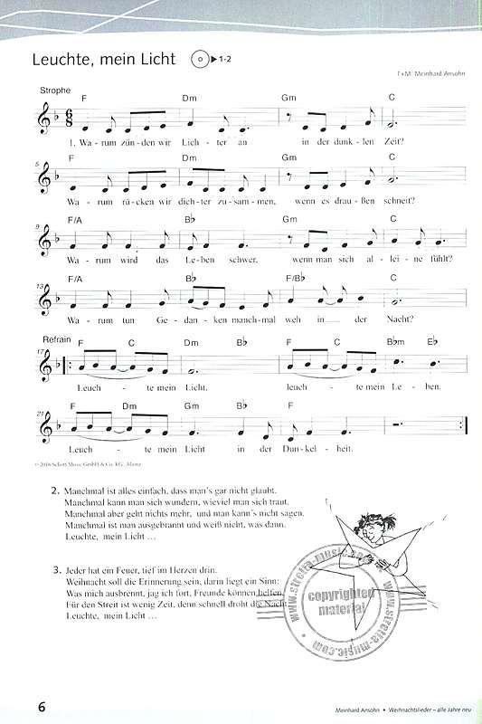 Advent is a Leuchtn   Notenbuch, Lieder, Sprüche