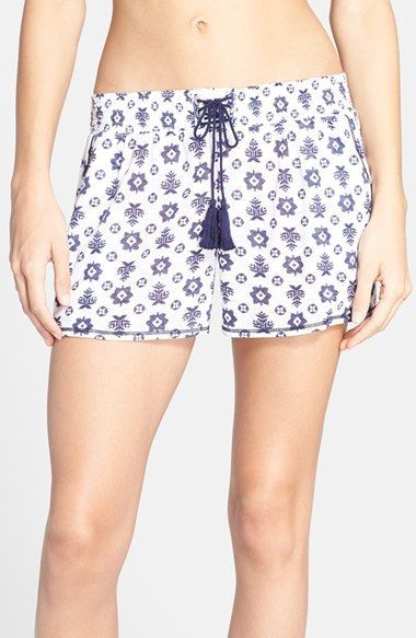 Women's kensie Print Lace-Up Jersey Boxers