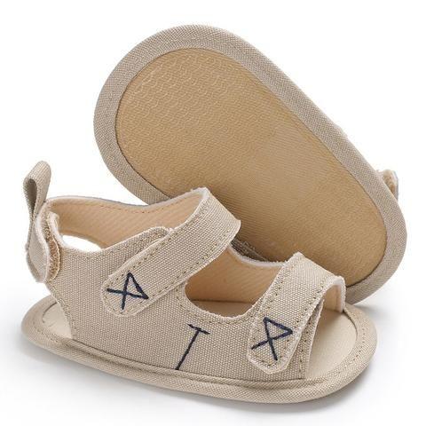 Soft Canvas Baby White Sandals Boy
