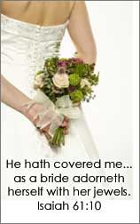 I love this.....I'm amazed he calls me his bride!! :) that is amazing. I'm the bride of Jesus...think about that!! The King of Kings is my husband!! :)
