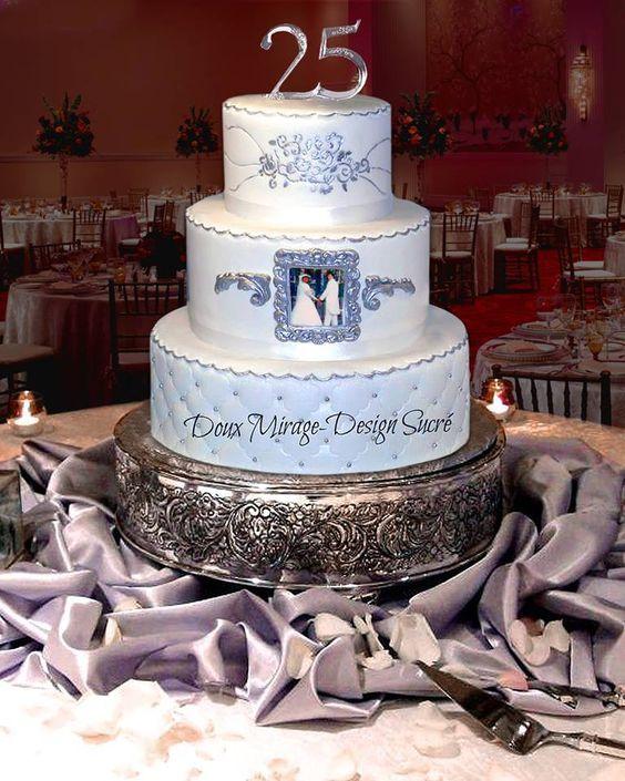 g teau 25e anniversaire de mariage id es pour la maison pinterest mariage. Black Bedroom Furniture Sets. Home Design Ideas