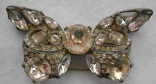 #113 vintage eisenberg original rhinestone pin/brooch