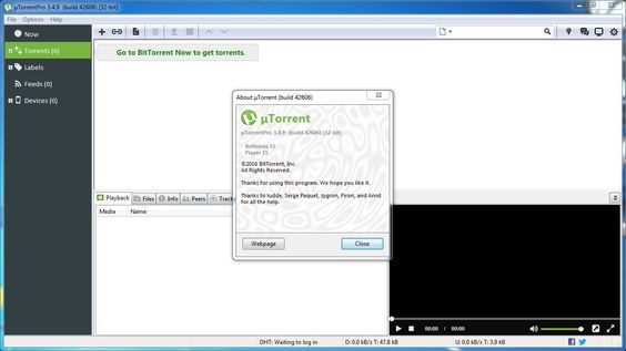 µTorrent Pro 3.4.9 Screenshots