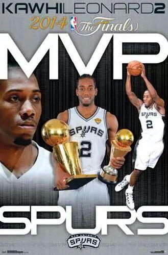 Spurs Kawhi Leonard 2014 NBA FINALS MVP POSTER