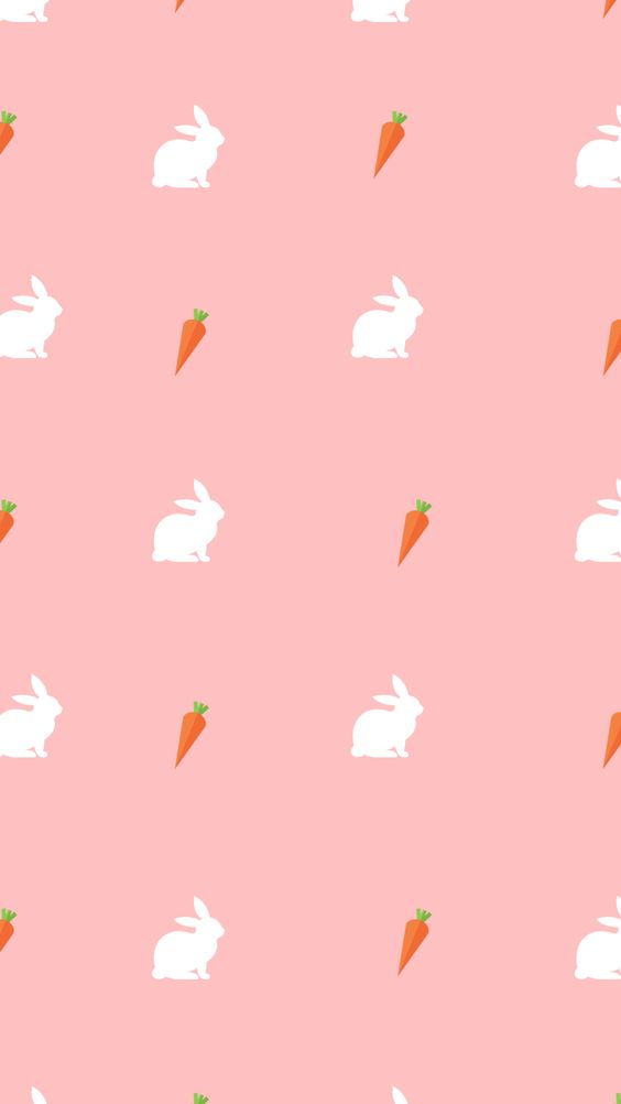 White rabbit carrot Easter phone wallpaper spring Lynn Meadows Photography