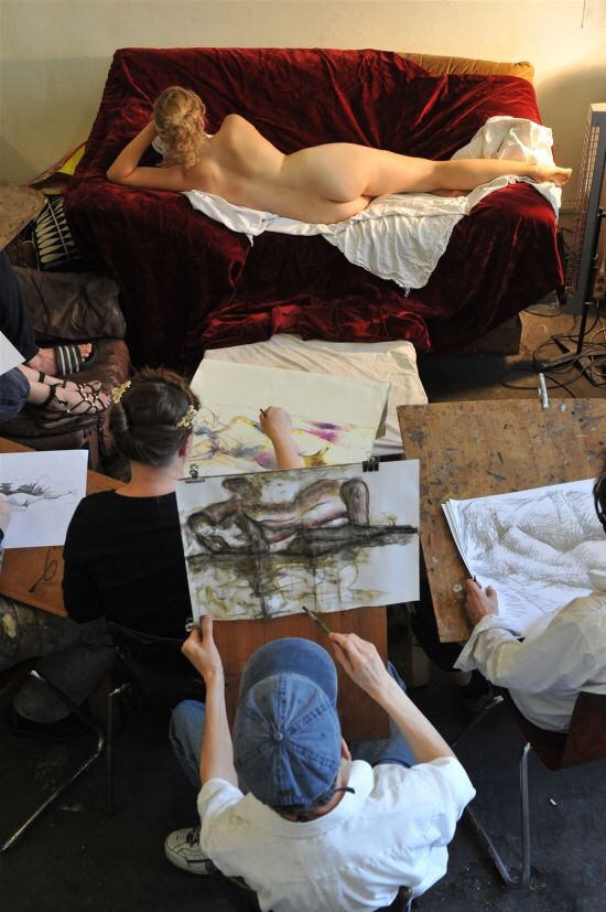 Life drawing in Dusseldorf.